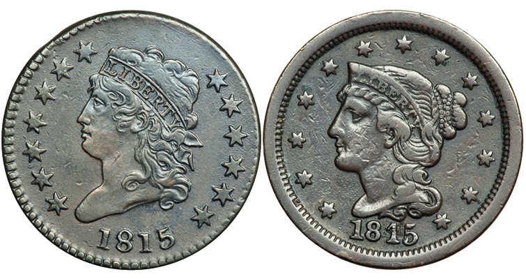 The only date since 1793 for which no cents can be found: The remarkable year of 1815