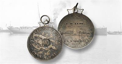 Countermarked naval coin