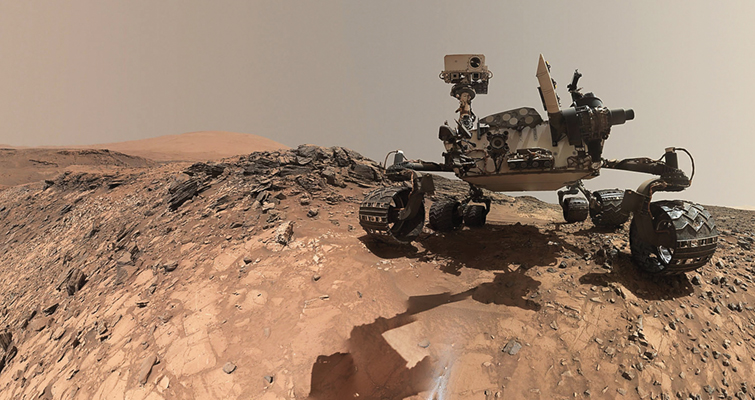Curiosity on the surface of Mars