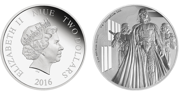 Darth Vader Shines In Silver Gold On Coins From New