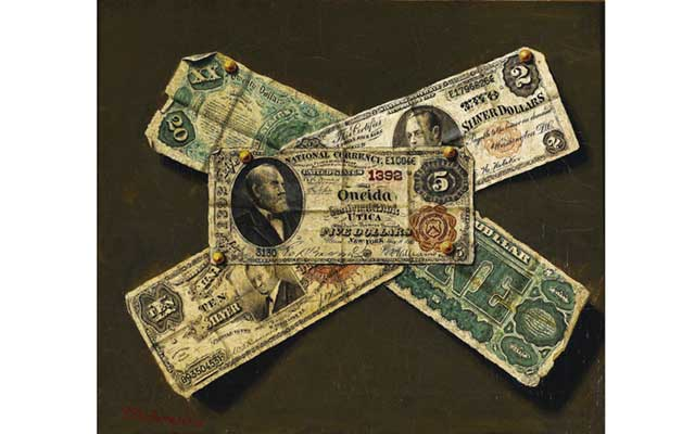 Temptation, illusion and deception: Dubreuil's paper money art