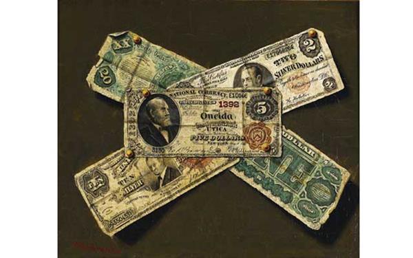 dauburil-paper-money-painting-heritage-auctions