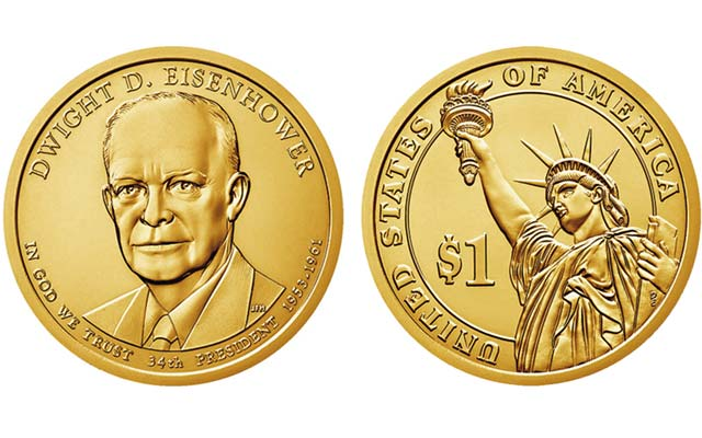 Bags, rolls, boxes of 2015 Eisenhower Presidential dollars on sale April 13
