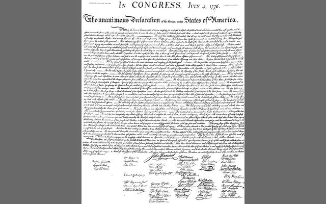 No, not a Declaration of Independence. A Declaration of Interdependence is what I want to sign.