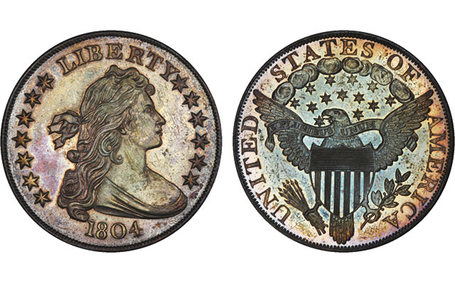 The Dexter Specimen of the Class I 1804 Draped Bust silver dollar fetched $3.29 million at the Friday March 31, 2017, Stack's Bowers sale of the D. Brent Pogue collection. The buyers, who bought the coin on speculation, sold it that Sunday for an undisclosed price to well-known collector Bruce Morelan.