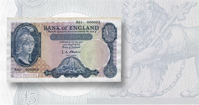 5-pound Bank of England note