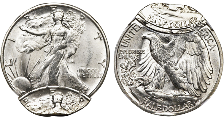 double-struck Walking Liberty half dollar