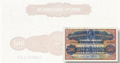 East African Currency Board 500 florins