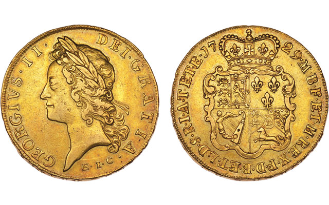 Five-guinea coin minted from East India Company gold highlights Dix Noonan Webb auction