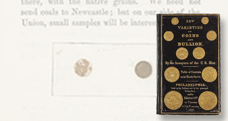 An 1850 numismatic book related to the California Gold Rush sold for $10,625 on Sept. 21 as part of Bonhams' Fine Books and Manuscripts auction in New York City.