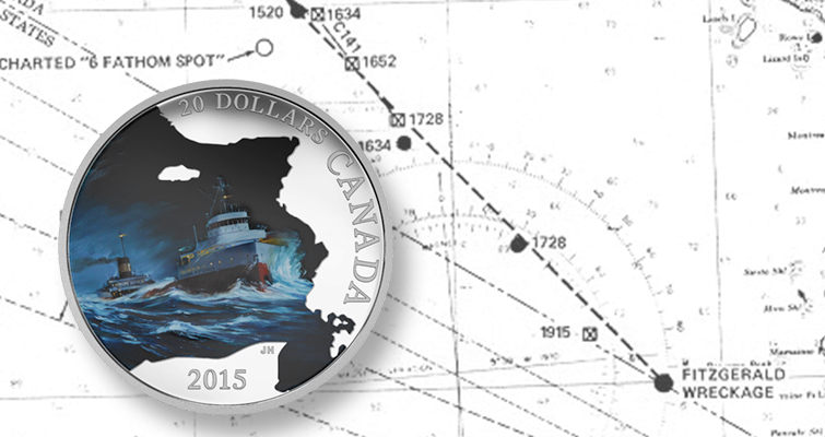 Canada honors wreck of SS Edmund Fitzgerald with coin