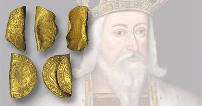 Gold coins from Edward III