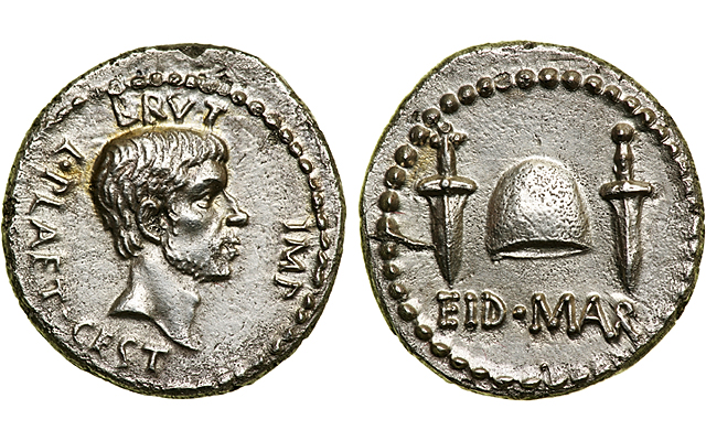 EID MAR - An Ancient Roman Coin Commemorates the Assassination of Caesar