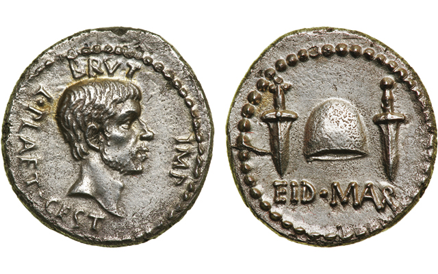 Eid Mar silver denarius tops Roman coin auction by Ira & Larry Goldberg Coins & Collectibles