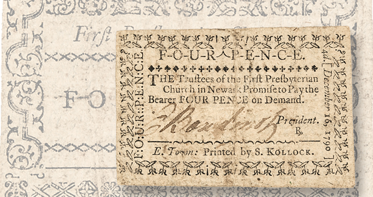 Elias Boudinot-signed note offered in June 16–17 Early American auction