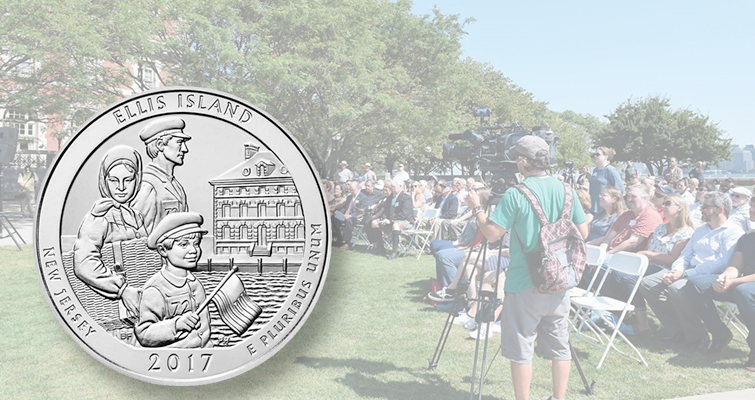 Aug. 30 Mint ceremony officially launches Ellis Island quarter
