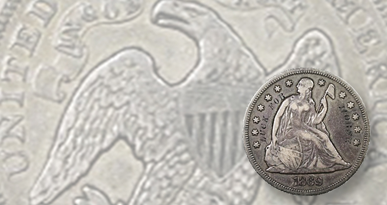Mysterious engraved message on 1869 Seated Liberty dollar