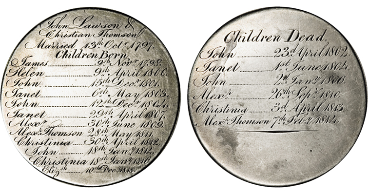 Engraved family history merged