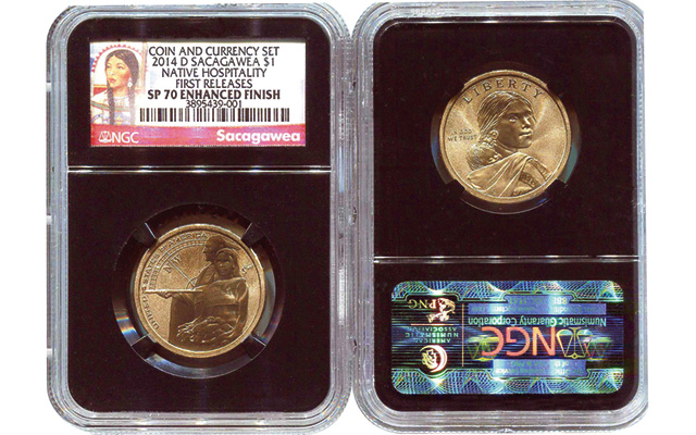 2014 D Coin /& Currency Sacagawea Native Hospitality  MS69 Enhanced Finished