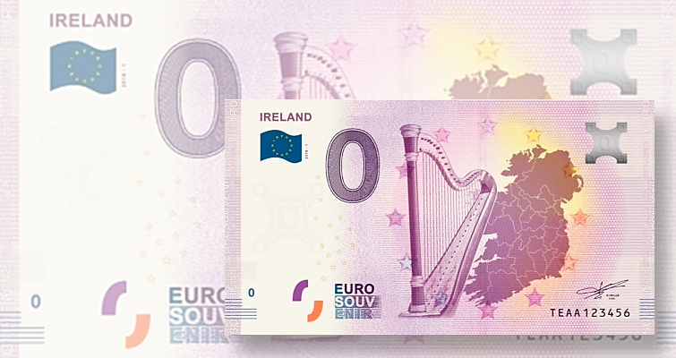 Newest 'note' from Ireland has a face value of zero euro