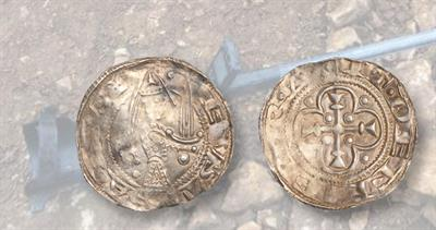 12th century Eustace silver penny