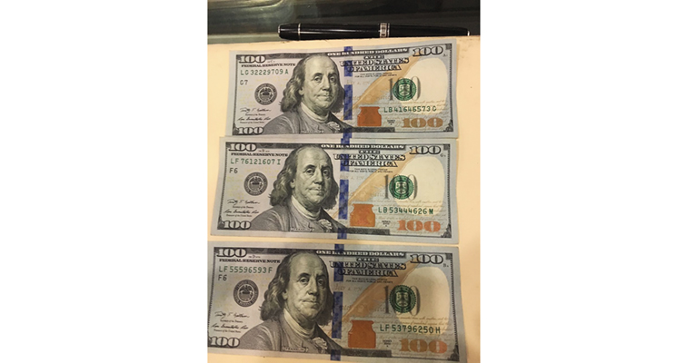 Series 2009A $100 Federal Reserve notes with mismatched serial numbers