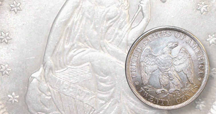 Reviewing a fake 1875-CC 20-cent coint: Detecting Counterfeits