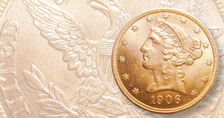 Could you detect this counterfeit 1906 Coronet gold $5 half