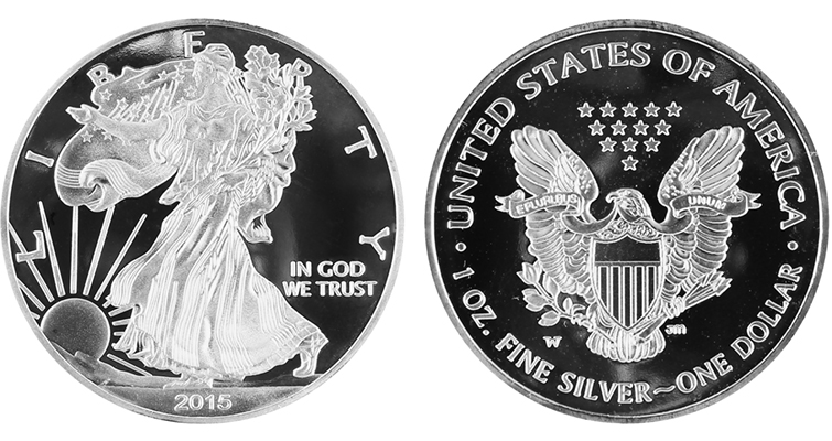 Fake 2015-W Silver Eagle Proof ICG Merged