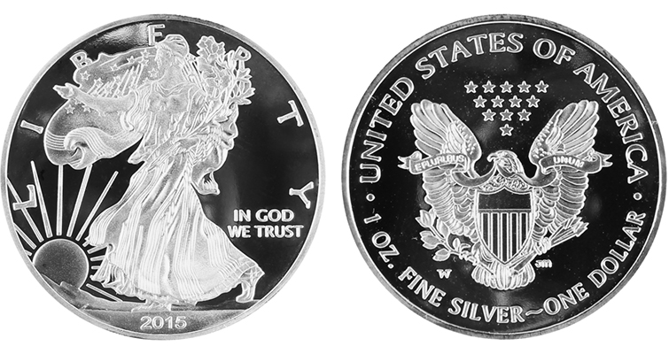 Fake 2015-W Silver Eagle Proof Merged