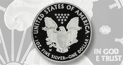 Fake 2020-W Proof silver V75 American Eagle