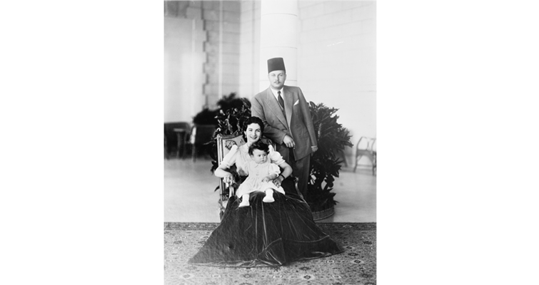 Egypt's King Farouk and his family