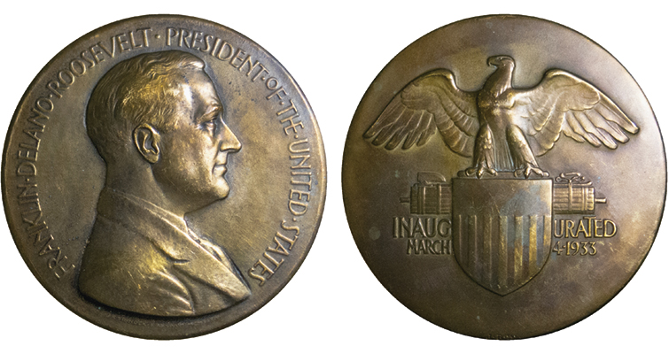 FDR 1933 Mint Medal merged