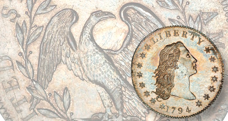 First 1794 Flowing Hair silver dollar traveling on public exhibition