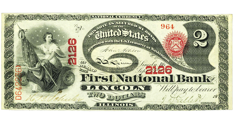 $2 First Charter national bank note