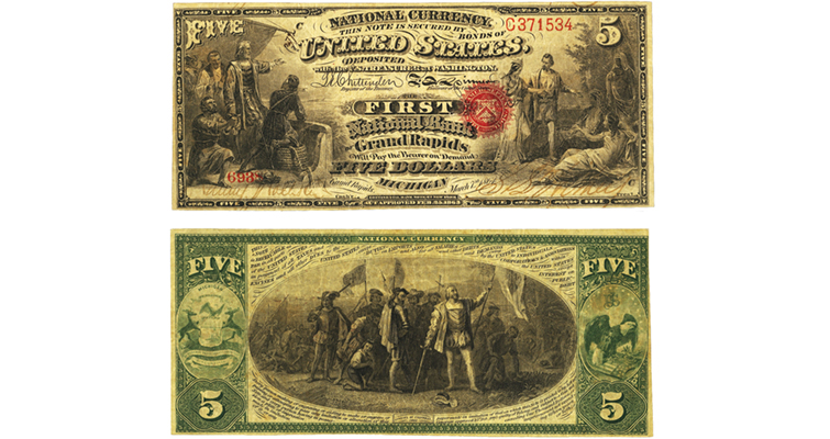 first-charter-5-dollar-national-bank-note-michigan-merged