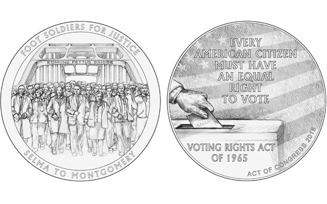 1965 Selma Foot Soldiers' congressional gold medal designs reviewed