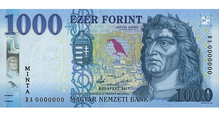 1,000-forint bank note