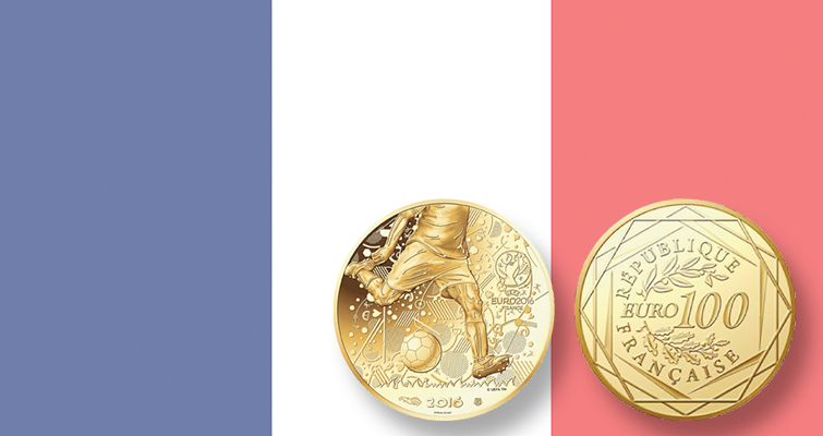 France issues gold, silver coins for soccer competition
