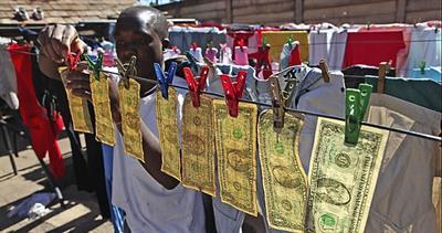 U.S. notes in Zimbabwe