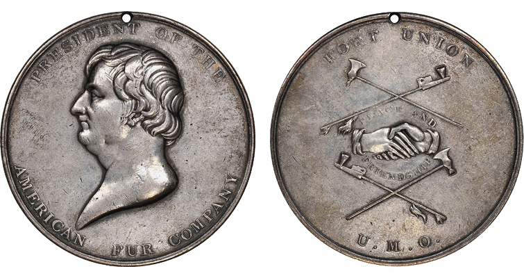 Astor Fur company peace medal