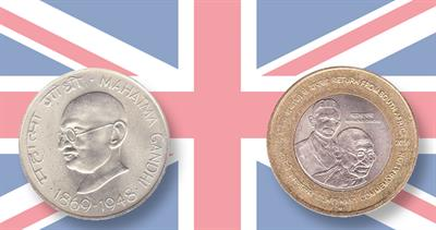 Gandhi on United Kingdom coins