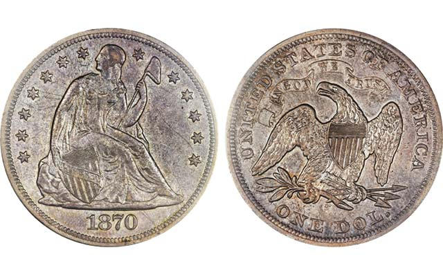 1870-S Seated Liberty dollar tops $500,000 at third Gardner collection auction