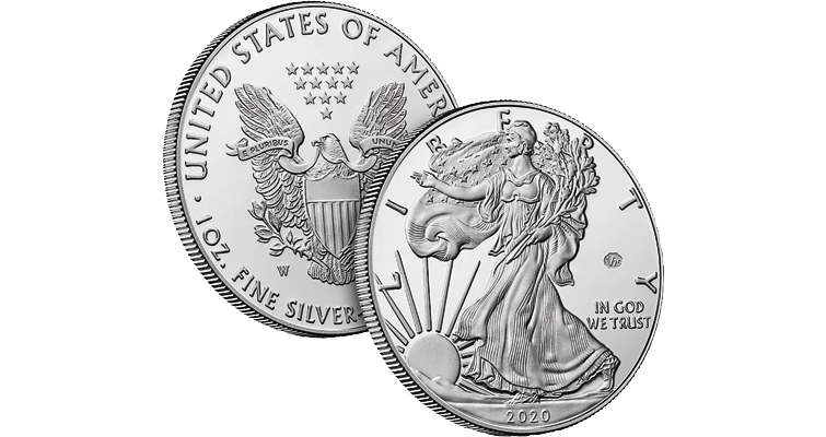Genuine 2020-W Proof American Eagle silver dollar