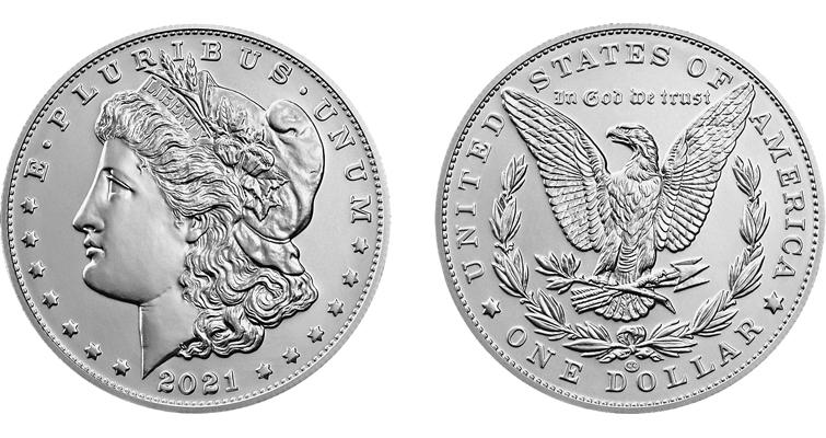 Genuine 2021-CC Morgan dollar