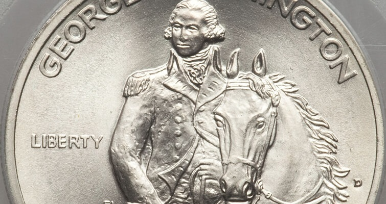 1982 George Washington 250th Anniversary silver half dollar