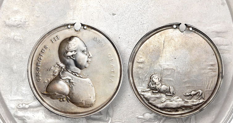 George III Lion & Wolf medal
