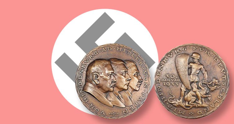 German medallic artist Karl Goetz inspired by news events in 1936