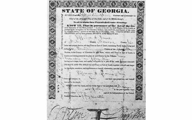 gold-rush-cherokee-lottery-land-deed