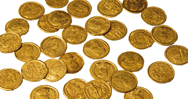 Gold coin hoard from Roman Empire discovered in Dutch orchard